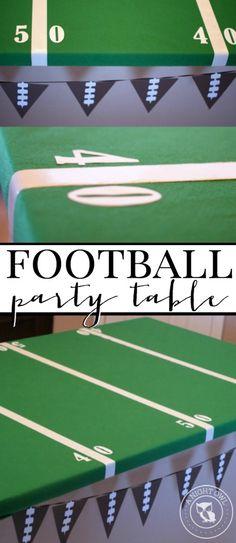 Easy Football Field Party Table   anightowlblog.com