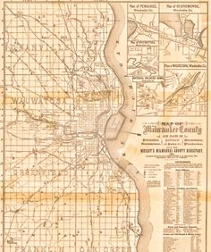 1887: Map of the city of Milwaukee | wisconsin | Pinterest | City ...