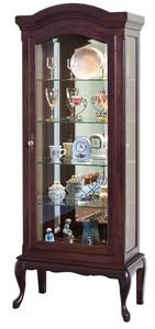 Amish Deluxe Queen Anne Curio Cabinet Lancaster Collection This beautiful Queen Anne Curio is handcrafted of solid wood. The solid wood Curio Cabinet has one door with Brass door knob for a clas Cherry Wood Furniture, Diy Furniture Decor, Amish Furniture, Antique Furniture, Furniture Design, Wine Cabinets, Curio Cabinets, Cupboards, Small China Cabinet