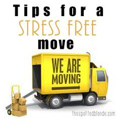 The Spotted Blonde: Moving Tips