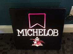 Michelob Anheuser-Busch Neon Style Lighted Sign Bar Pub Advertising Eagle Rare