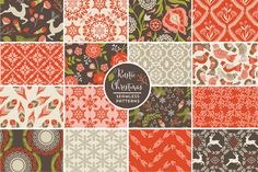 Rustic Christmas Seamless Patterns by Cocoa Mint on Creative Market