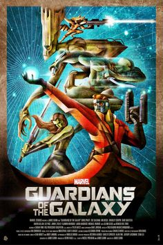 Guardians of the Galaxy retrofuturistic poster