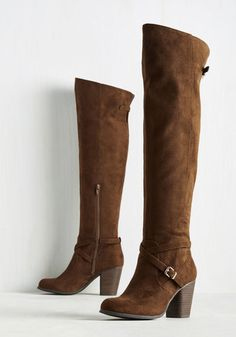 Can't Say Ya Didn't Stride Boot. Though these over-the-knee boots offer an extremely pulled-together appearance, gliding along atop their stacked heels is effortless!