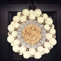 Two Junk Chix: *New* Snowball Wreath to Ring in 2013