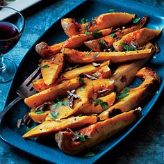 Honey-Roasted Butternut Squash Recipe | Cooking Light #myplate #veggies #dairy