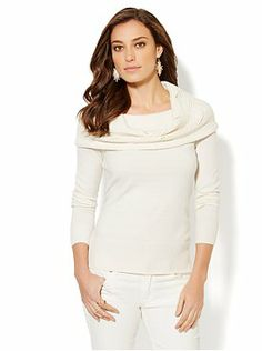 Sparkle Cowl-Neck Sweater from New York & Company