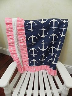 Nursery Bedding, Baby Bedding Set Tori, Girl Crib Bedding, Nautical Baby Bedding, Pink and Navy Crib Bedding, Anchor Baby Bedding - Choose Your Pieces