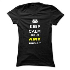 Keep Calm And Let Amy Handle It-wirua - #sweatshirts for men #pink hoodies. MORE…