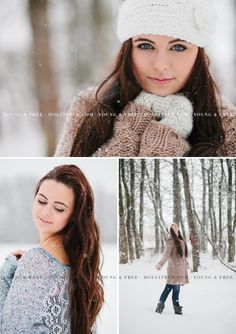 Oregon Senior Portrait Photographer, Holli True, photographs Class of 2014 high school senior, Grace, in the snow in Eugene. pictures Senior Pictures in the Snow