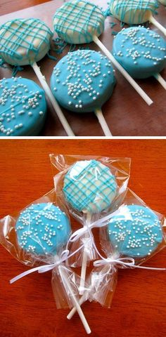 Chocolate Dipped Oreo Pops Click Pic for 21 DIY Baby Shower Ideas for Boys DIY Baby Shower Party Favors for Boys by Boy Party Favors, Baby Shower Party Favors, Baby Party, Baby Shower Parties, Baby Shower Themes, Baby Shower Gifts, Shower Ideas, Frozen Boy Party, Ocean Theme Baby Shower