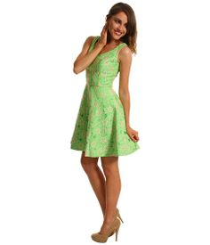 Lilly Pulitzer Freja Dress New Green Pique Lace - Zappos.com Free Shipping BOTH Ways