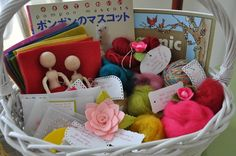 Craft basket gift...fill with your extras or buy some new supplies for your favorite crafter.
