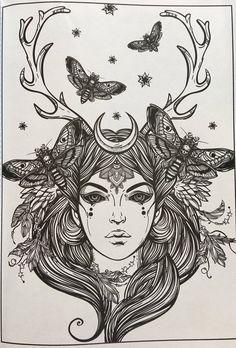 Adult Coloring Book – Tattoos and Tribals Adult coloring book with 80 front only pages of tattoos and tribals to color. Tatouage Artemis, Artemis Tattoo, Body Art Tattoos, Tattoo Drawings, Leg Tattoos, Sleeve Tattoos, Tattoo Ink, Adult Coloring, Coloring Books