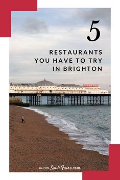 5 must-visit restaurants when in Brighton, UK, from chippies to casual fine dining. Brighton Restaurants, Casual Restaurants, Brighton Uk, Places To Eat, Fine Dining, Europe, Beach, Water, Travel