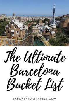 Are you going to Barcelona, Spain? Everything you will want to see and do in the city is on this Ultimate Barcelona Bucket List! #barcelona #spaintravel #bucketlist European Travel Tips, Europe Travel Guide, Spain Travel, Travel Destinations, Visit Barcelona, Barcelona Travel, Barcelona Spain, Weekend City Breaks, European City Breaks