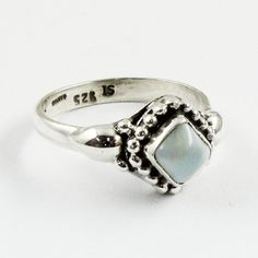 LARIMAR STONE !! Unique Design 925 Sterling Silver Ring by JaipurSilverIndia on Etsy
