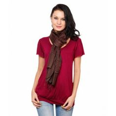 Favola Brown Striped Stole #stole #scarves
