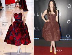 Love this dress in both favrics! Andrea Riseborough in Rochas - 'Oblivion' Rio de Janeiro Premiere
