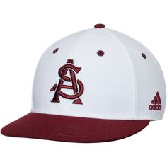 Arizona State Sun Devils adidas On-Field Fitted climalite Hat - White/Maroon