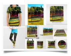 """Bench at the pond"" by patrick-jobst ❤ liked on Polyvore featuring art"