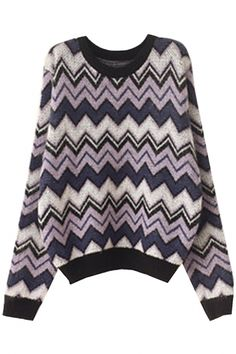 Chic Geo Pattern Knit Sweater - GLAMOURIZE