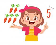 Teacher Cartoon, Cartoon Kids, Cute Cartoon, Art Drawings For Kids, Art For Kids, Digital Paper Free, Math Numbers, Preschool At Home, Children Images