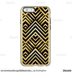 art nouveau,deco,gold,black,chic,elegant,vintage,c incipio feather® shine iPhone 6 case