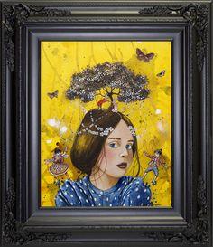 "Virginie Mazureau ""Celebration"" 2015, Mixed Media on Canvas, 14 x 8 inches"