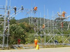 Scaffolding Scaffolding, Wireframe, Carpentry, Thesis, Utility Pole, Track, Woodworking, Runway, Staging