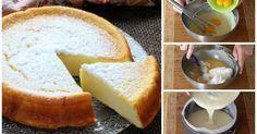 ¡Por fin la receta de esta maravillosa cheesecake que causó furor! Solo 3ingredientes: Para un molde de17 cm de diametro  4huevos (claras y yemas separadas)160 g de chocolate blanco160 g de queso crema (tipo Philadelphia)