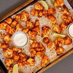 Honey Lime Cauliflower Hot Wings - the BEST summer BBQ appetizer! Vegan & gluten free means everyone can enjoy!