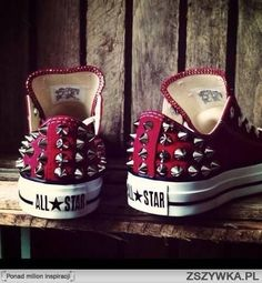 Dark red studded all star!!!!My favourite!!!