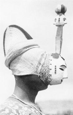 FEMALE MASK FROM IFOGU MASKERADE OF NKPORO TRIBE, ADA GROUP — G. I. Jones