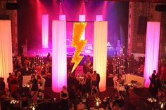 We created this huge lightening bolt for a party at the Midland Theatre.