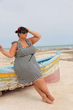 Beautiful Beach Wear Bbw. Plus size fashion. Big girls with confidence
