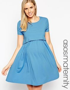 ASOS Maternity NURSING Skater Dress With Double Layer