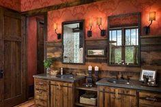 bathroom rustic vanity - Google Search