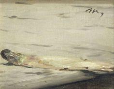 Charles Ephrussi, ami de Marcel Proust, propriétaire de la Gazette des Beaux-Arts et grand amateur d'art, commande à Édouard Manet en 1880 la réalisation d'une nature morte ayant pour thème l'asperge.