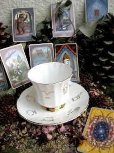 Vintage Gypsy Witch Fortune Telling Tea Cup