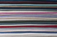 "The same 100% organic cotton jersey in medium-weight (approx. 9.80 oz. per linear yard) used for 10 years in our collections. 56"" wide and available in 45 colors. Whole yards only. Specify amounts in cart under quantity. Because our organic cotton jersey is dyed in small quantities there may be variances in color between dye lots; we suggest ordering enough fabric yardage at a time to fully complete your project. If you need help determining how much fabric to purchase, please contact us at…"
