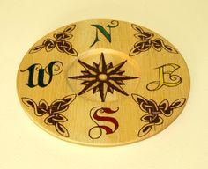 Pyrography candle holder plate