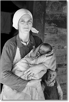 Family living on Natchez Trace Project, near Lexington, Tennessee during the Great Depression