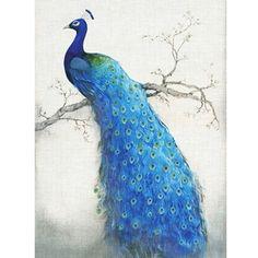 Diy diamond painting embroidery cross diamond rhinestone stick painting square drill full rhinestone blue peacock #D42