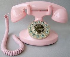 Telefone vintage rosa, luxo rs