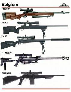 Бельгия: FN 30-11, FN A4, FN A5, FN AS SPR, ...