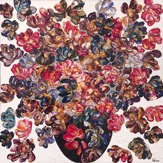 gagnon art  #Flower #Art #Artist #Artiste #painting #Quebec #ArtGallery #GalerieDart Art Gallery, Art Abstrait, Quebec, Vegetable Pizza, Flower Art, Artwork, Painting, Artist, Flowers