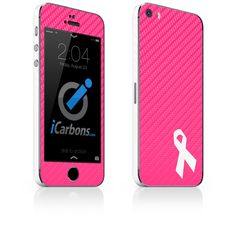 Breast Cancer Awareness iPhone Skin - 25% of the proceeds go to breast cancer research! iCarbons.com