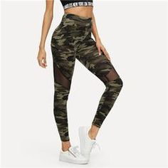 c8d94699a1ef3 Leggings camouflage transparence 13.99€ Mesh Leggings, Printed Leggings,  Cute Pants, Pretty Outfits