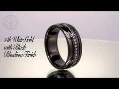 ▶ Black Rhodium Finished Men's Wedding Band - Simone & Son on YouTube
